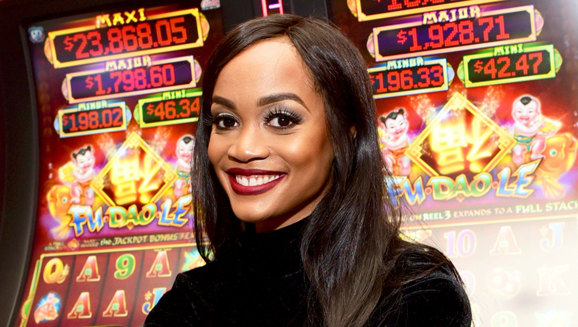 Rachel Lindsay celebrates birthday at SugarHouse Casino on April 21, 2018 in Philadelphia, Pennsylvania.