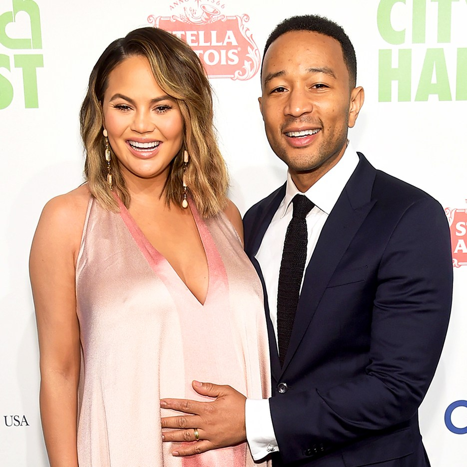 Chrissy Teigen and John Legend attend City Harvest's 35th Anniversary Gala at Cipriani 42nd Street on April 24, 2018 in New York City.