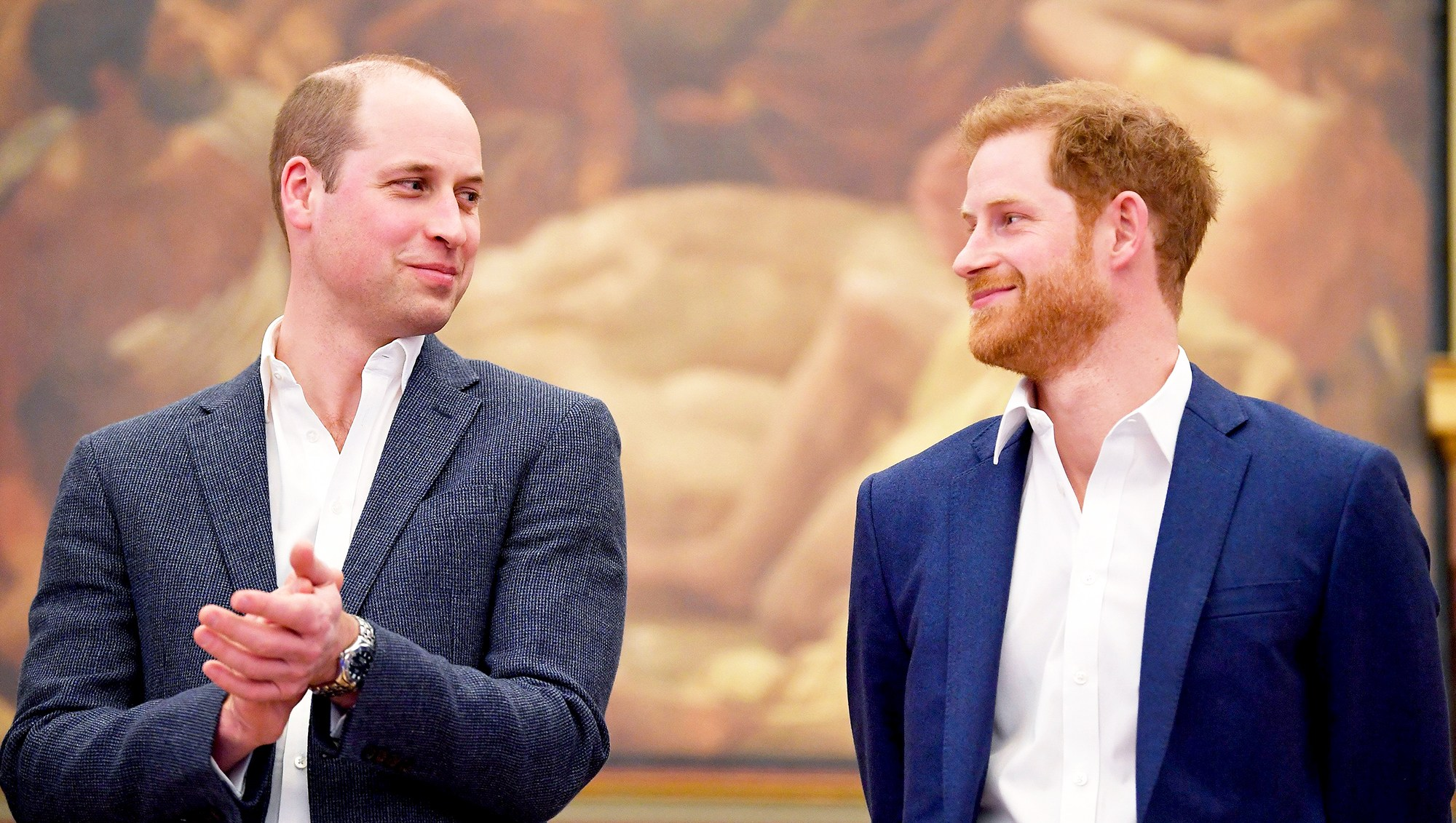 Prince William and Prince Harry attend the opening of Greenhouse Sports Centre on April 26, 2018 in in London, England.