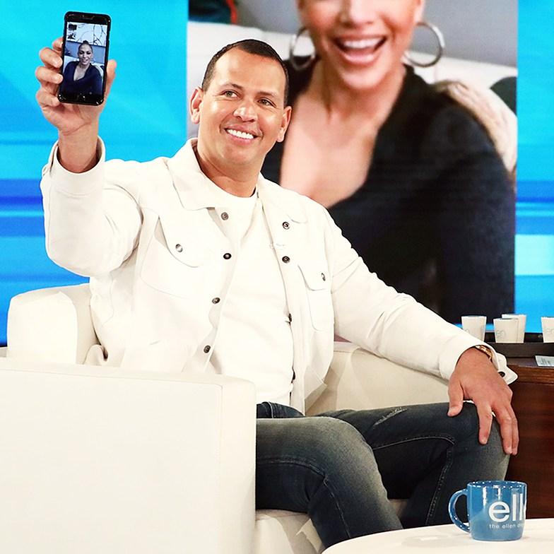 Alex Rodriguez Ellen DeGeneres Facetime Jennifer Lopez