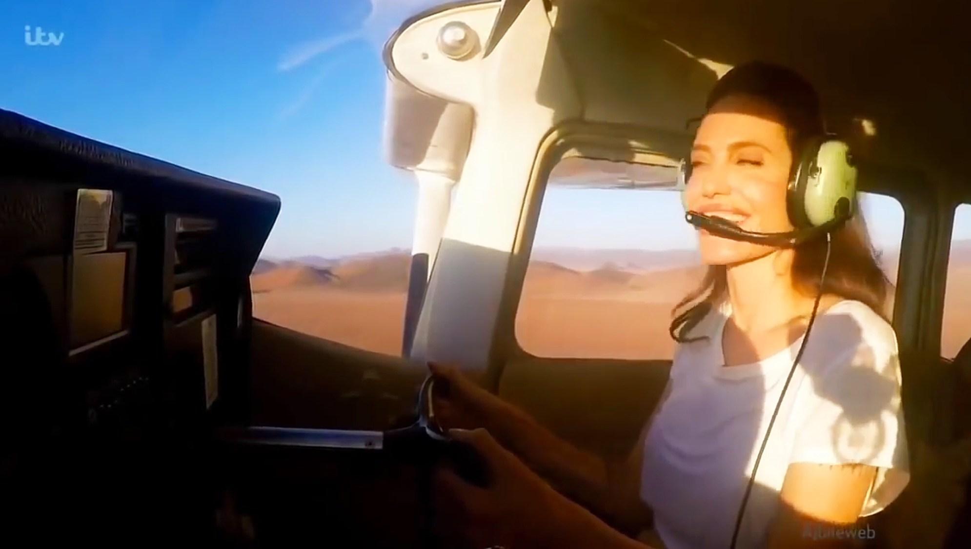 Angelina Jolie airplane Nambia