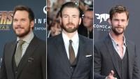 Chris Pratt, Evans and Hemsworth