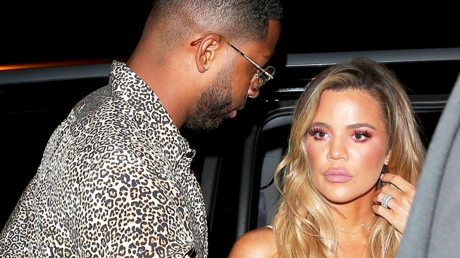 Khloe Kardashian and Tristan Thompson step out to Blind Dragon on June 25, 2017.