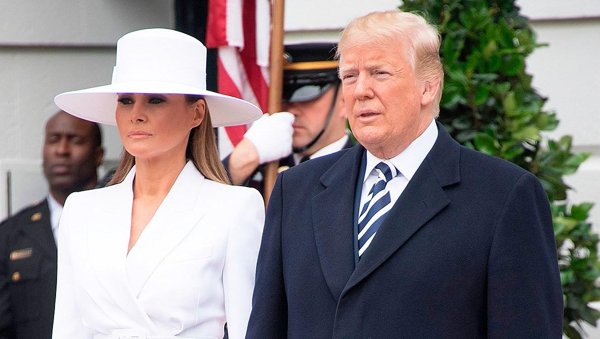 Donald Trump Melania Trump holding hands