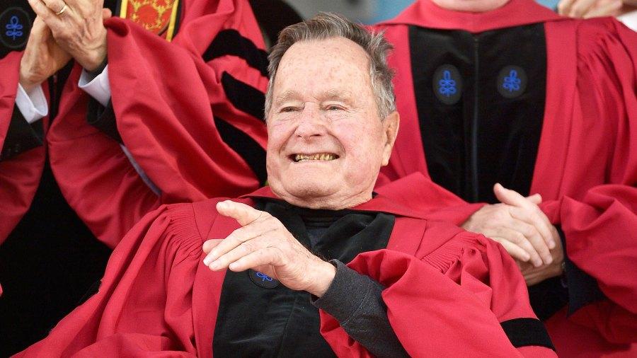 George H.W Bush's health improving