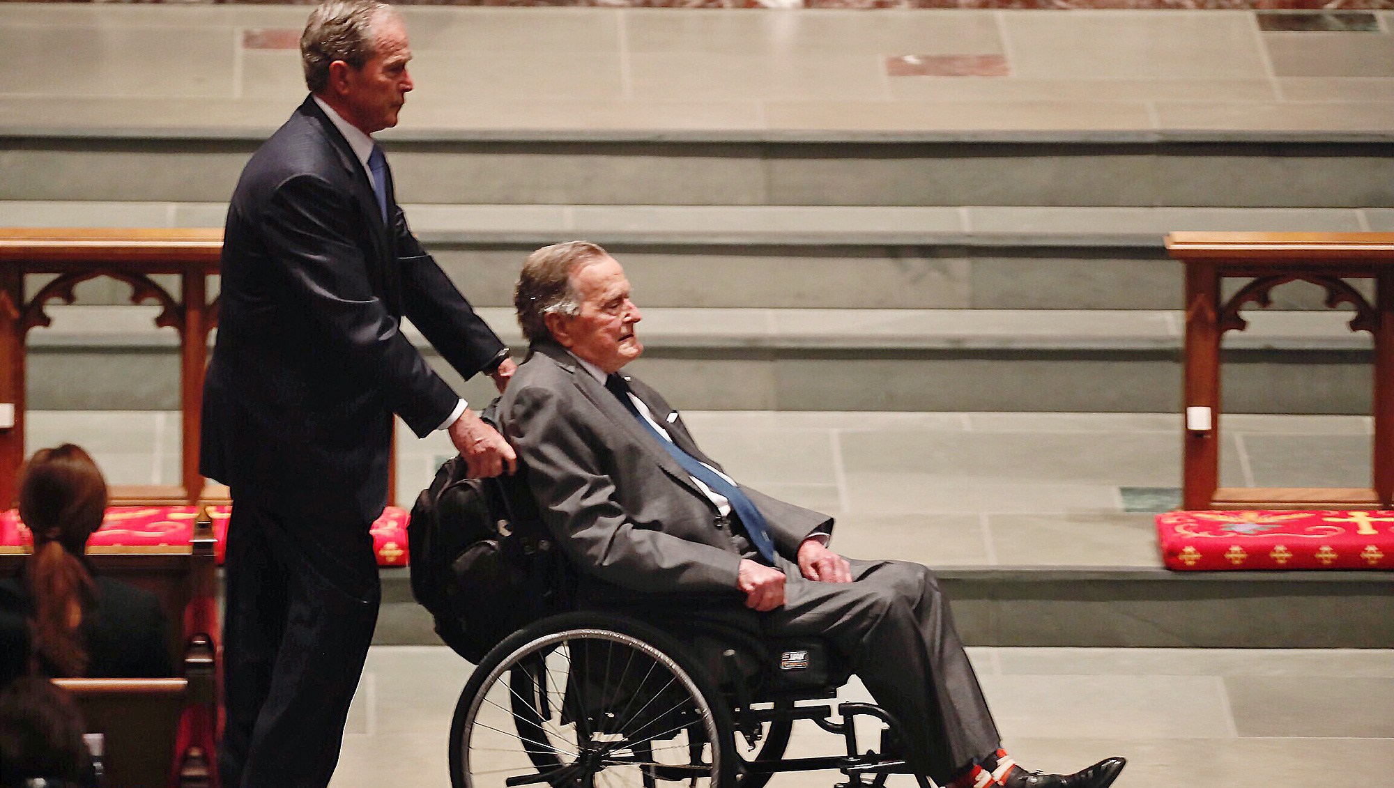 George H.W. Bush, George W. Bush, Barbara Bush, Funeral, St. Martin's Episcopal Church