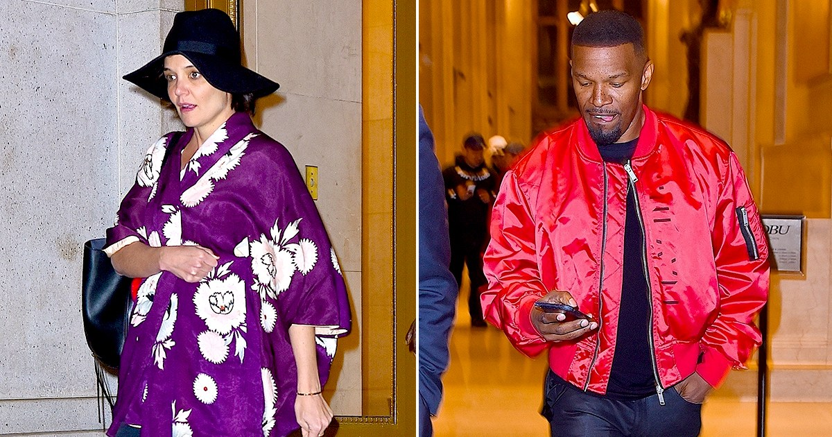 Katie Holmes, Jamie Foxx Step Out Separately After Dinner Date-4507