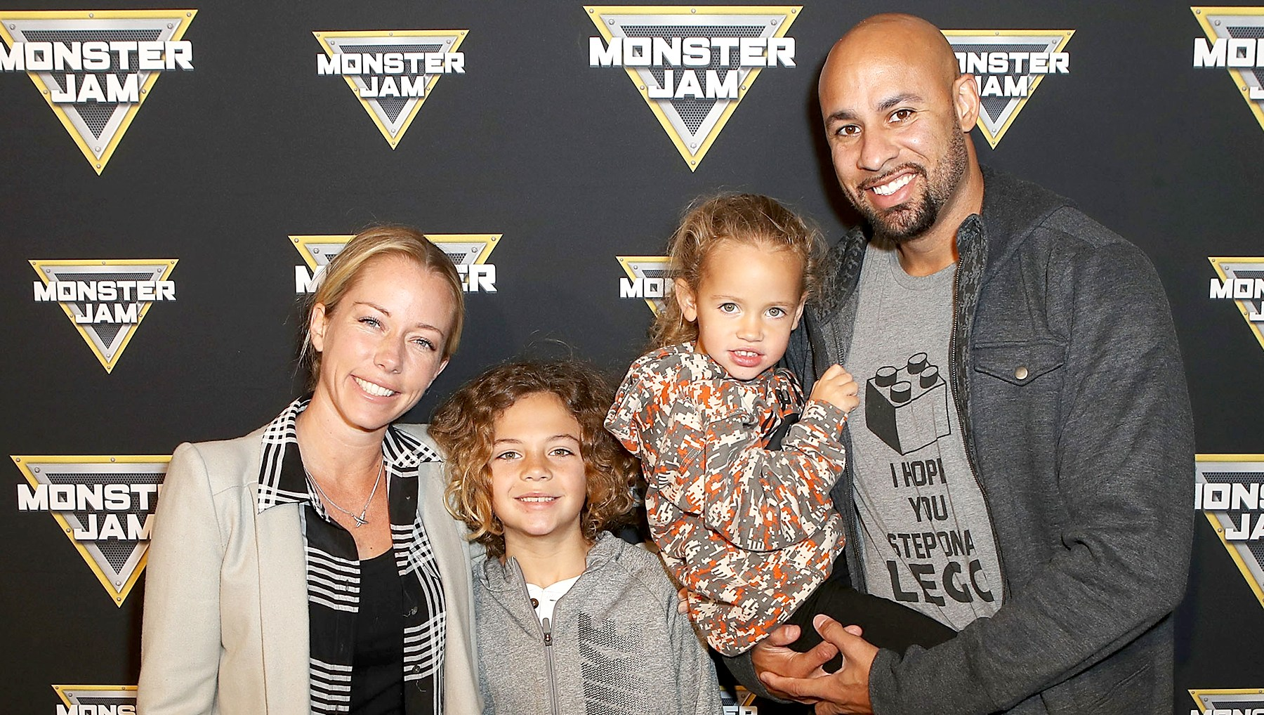 Kendra-Wilkinson-Baskett,-son-Hank,-daughter-Alijah,-and-Hank-Baskett