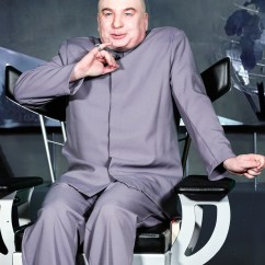 Dr Evil Chair Patterned Wingback Mike Myers Returns As To Slam Donald Trump