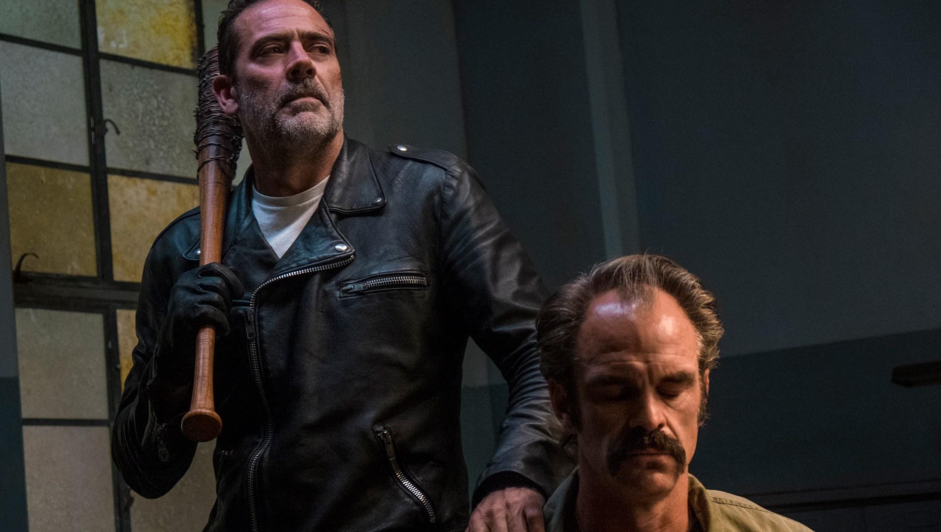Jeffrey Dean Morgan as Negan, Steven Ogg as Simon