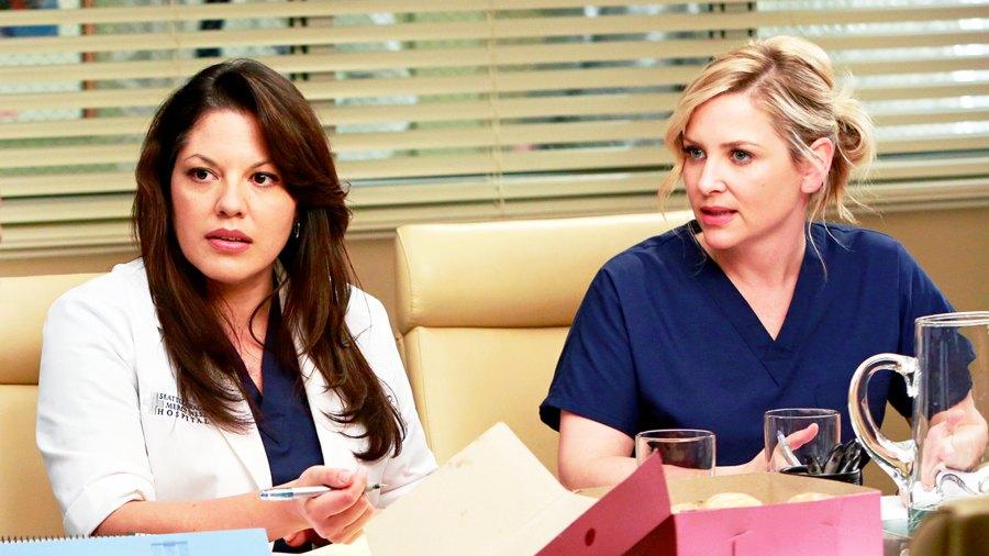 Sara Ramirez and Jessica Capshaw on 'Grey's Anatomy'