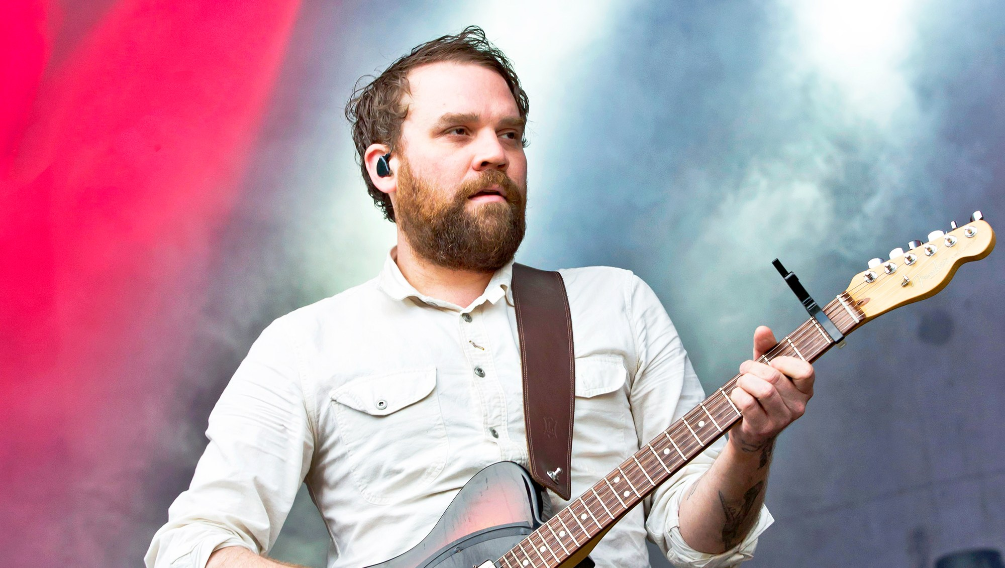 Scott Hutchison of Frightened Rabbit performs live during a concert at the Zitadelle Spandau in Berlin, Germany.