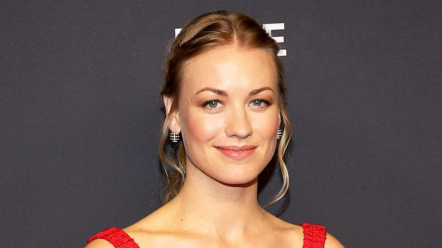"""Yvonne Strahovski attends the 2018 PaleyFest Los Angeles Hulu's """"The Handmaid's Tale"""" at Dolby Theatre in Hollywood, California."""