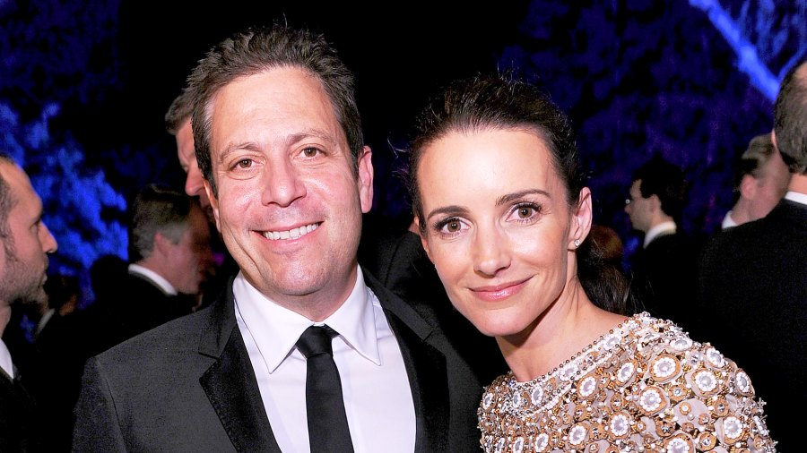 Darren Star and Kristin Davis attend the Vanity Fair party for the 2010 White House Correspondents' Association Dinner at the residence of the French Ambassador in Washington, DC.