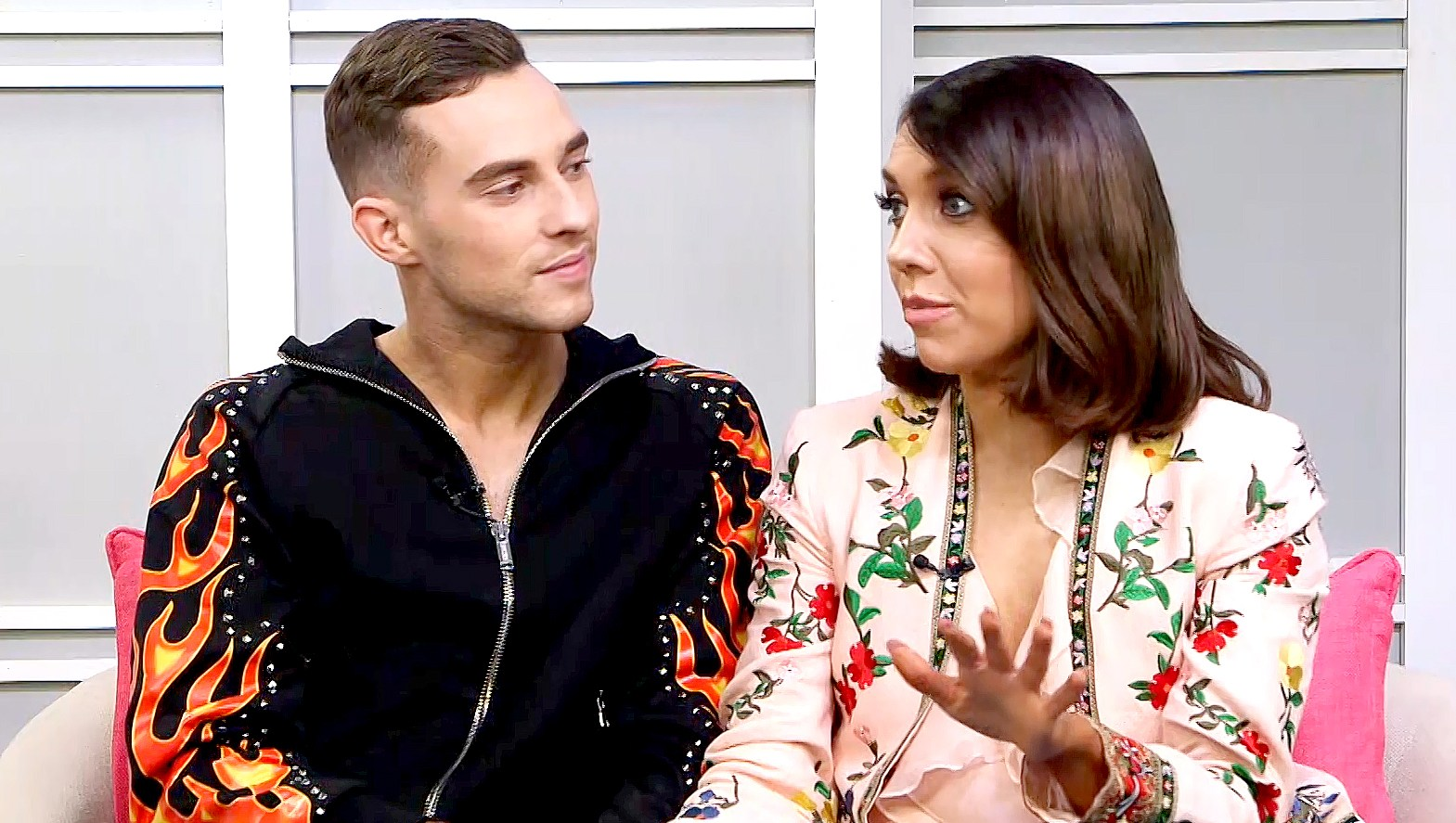 Adam Rippon and Jenna-Johnson