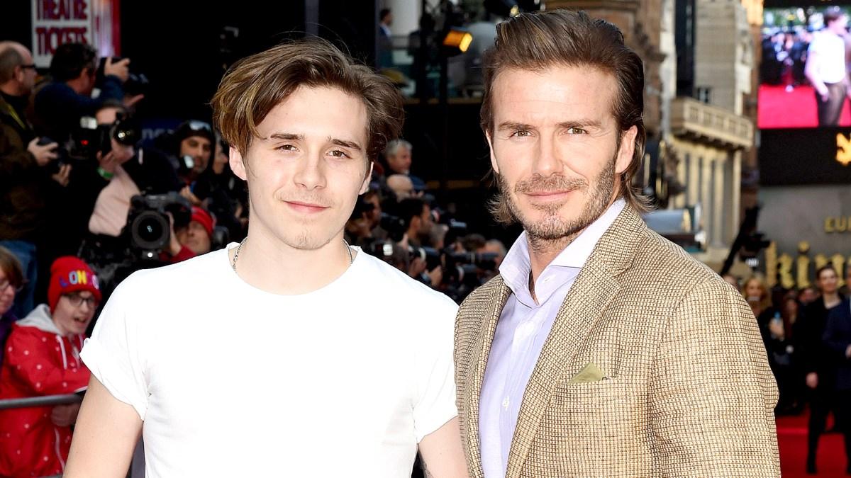 d0a1102ec David Beckham Cries as Son Brooklyn Beckham Surprises Him on Birthday