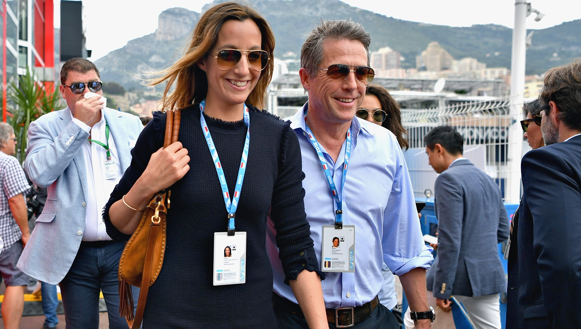 Hugh Grant, Anna Eberstein, Wedding, Married, Monaco Formula One Grand Prix