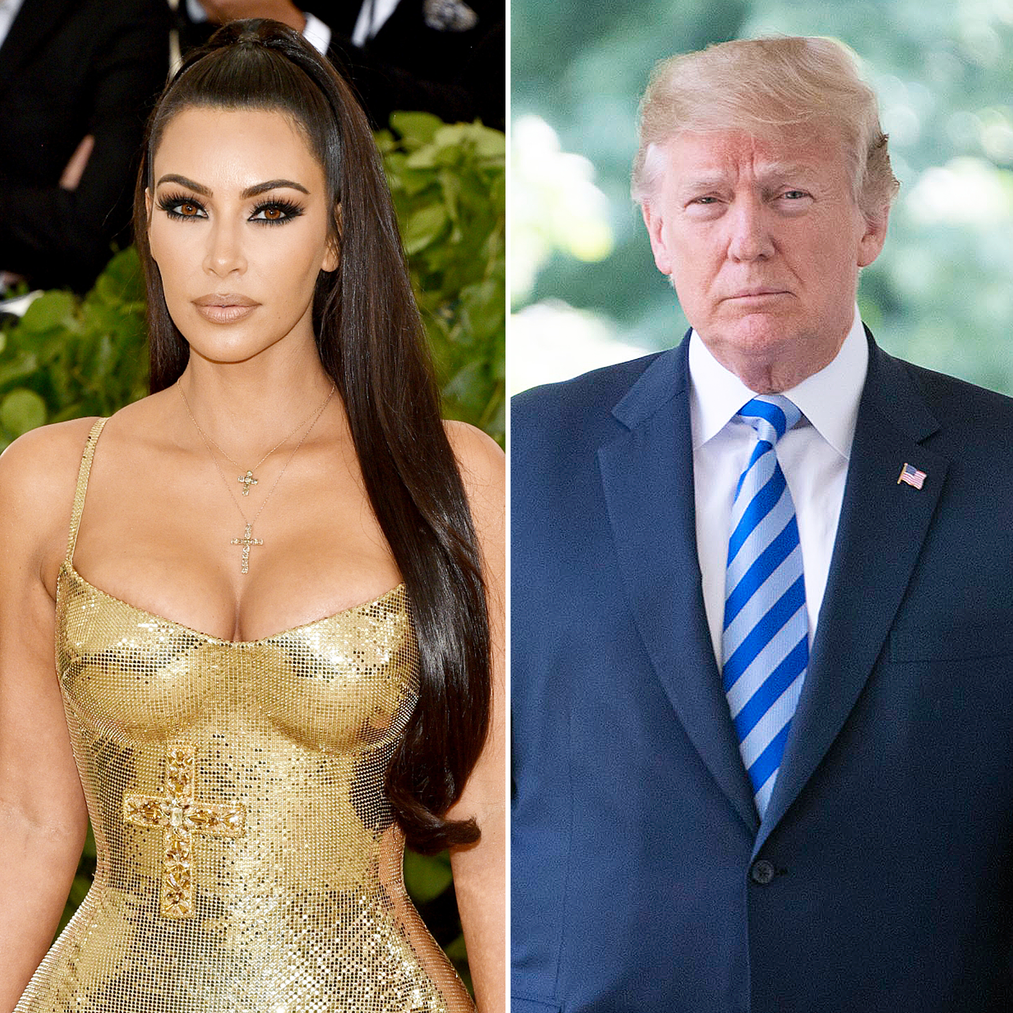 The US President: 'Great meeting with @KimKardashian, talked prison reform'