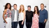 'Suits' stars Gina Torres, Patrick J. Adams, Sarah Rafferty, Rick Hoffman, Meghan Markle and Gabriel Macht attend 2017 Script Reading Presented by USA Network.