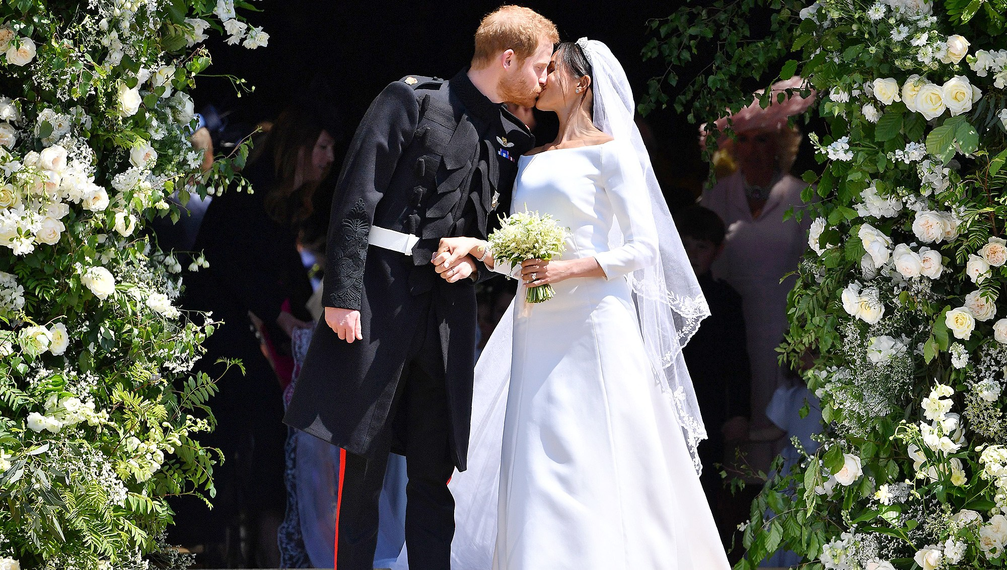 Image result for meghan and harry kiss