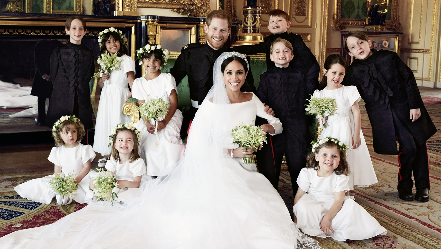 Prince Harry Meghan Markle Official Wedding Photo Emerald Couch