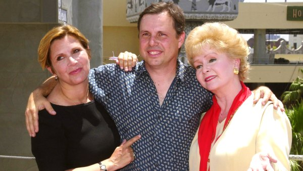 Debbie Reynolds with her children Carrie and Todd Fisher