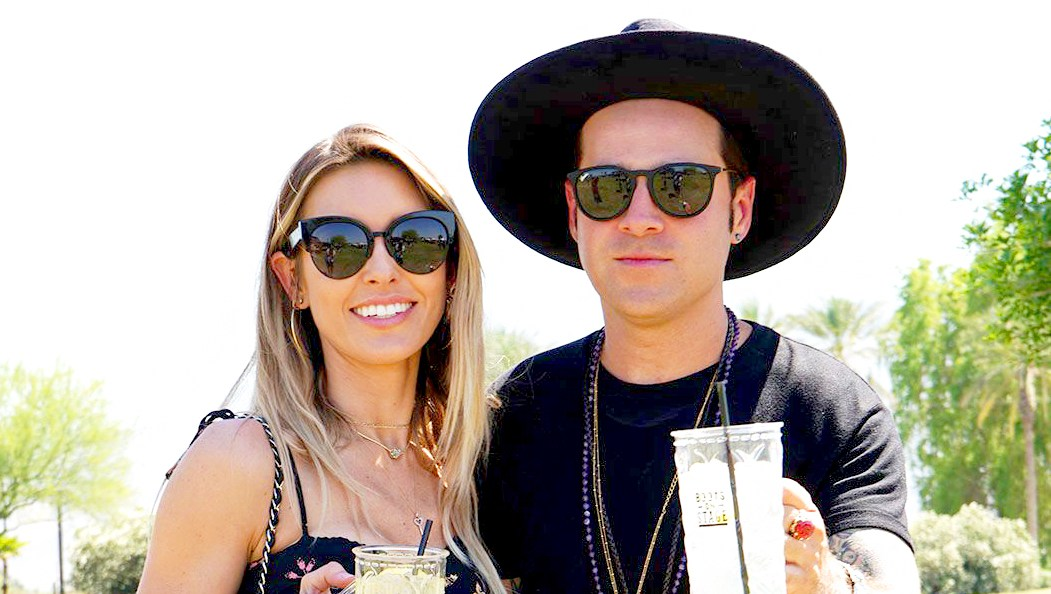 Audrina Patridge and Ryan Cabrera at the 2018 Stagecoach country music festival in Indio, California on April 28, 2018.