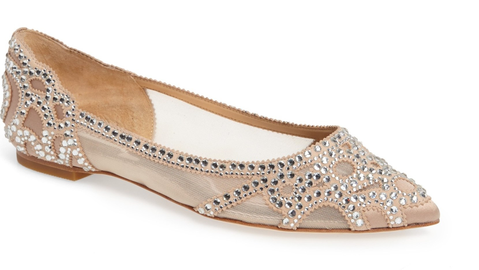 Badgley Mischa crystal flats