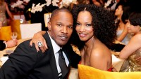 Jamie Foxx and Garcelle Beauvais attend the 19th Annual Elton John AIDS Foundation Academy Awards Viewing Party at the Pacific Design Center in West Hollywood, California.