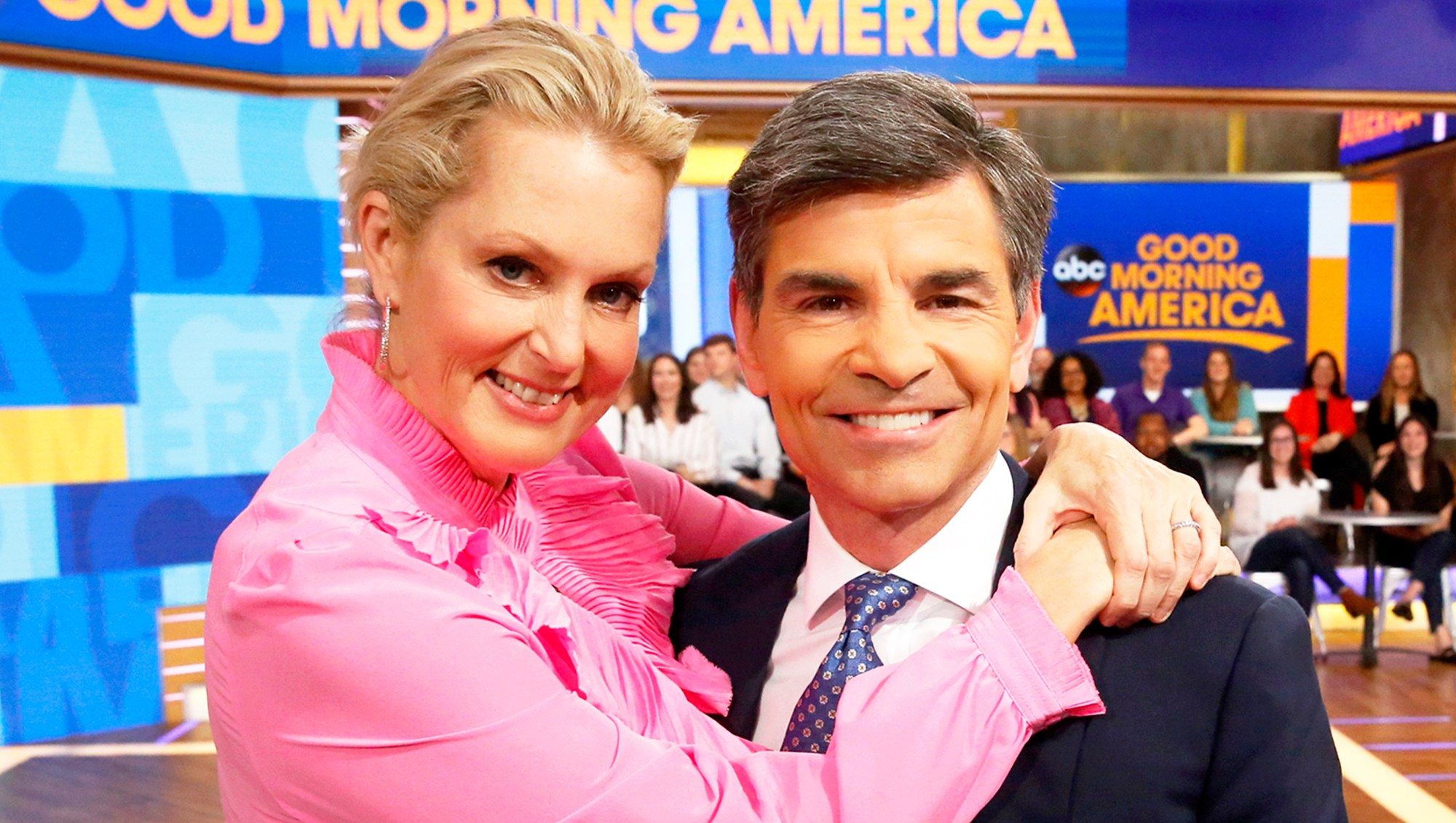 Ali Wentworth and George Stephanopoulos on 'Good Morning America' show