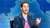 Pete Davidson during Weekend Update on 'Saturday Night Live'