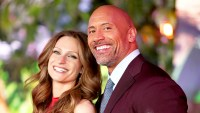 """Dwayne 'The Rock' Johnson and Lauren Hashian attend the 2017 premiere of """"Jumanji: Welcome To The Jungle"""" in Hollywood, California."""