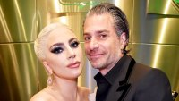 Lady Gaga and Christian Carino backstage at the 60th Annual Grammy Awards at Madison Square Garden in New York City.