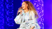 "Beyonce performs on stage during the ""On the Run II"" tour opener at Principality Stadium on June 6, 2018 in Cardiff, Wales."