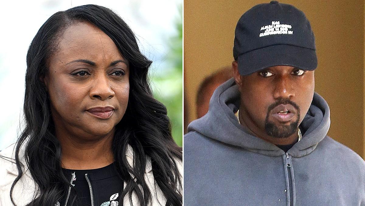 Pat Houston and Kanye West