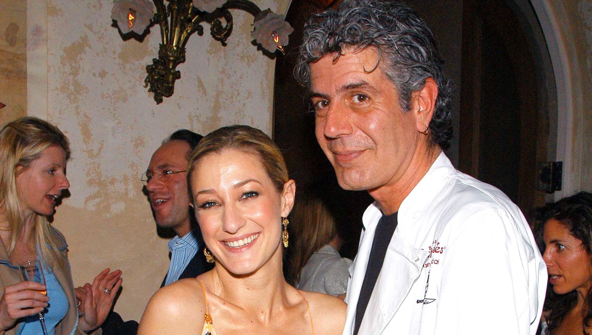 Paula Froelich and Anthony Bourdain