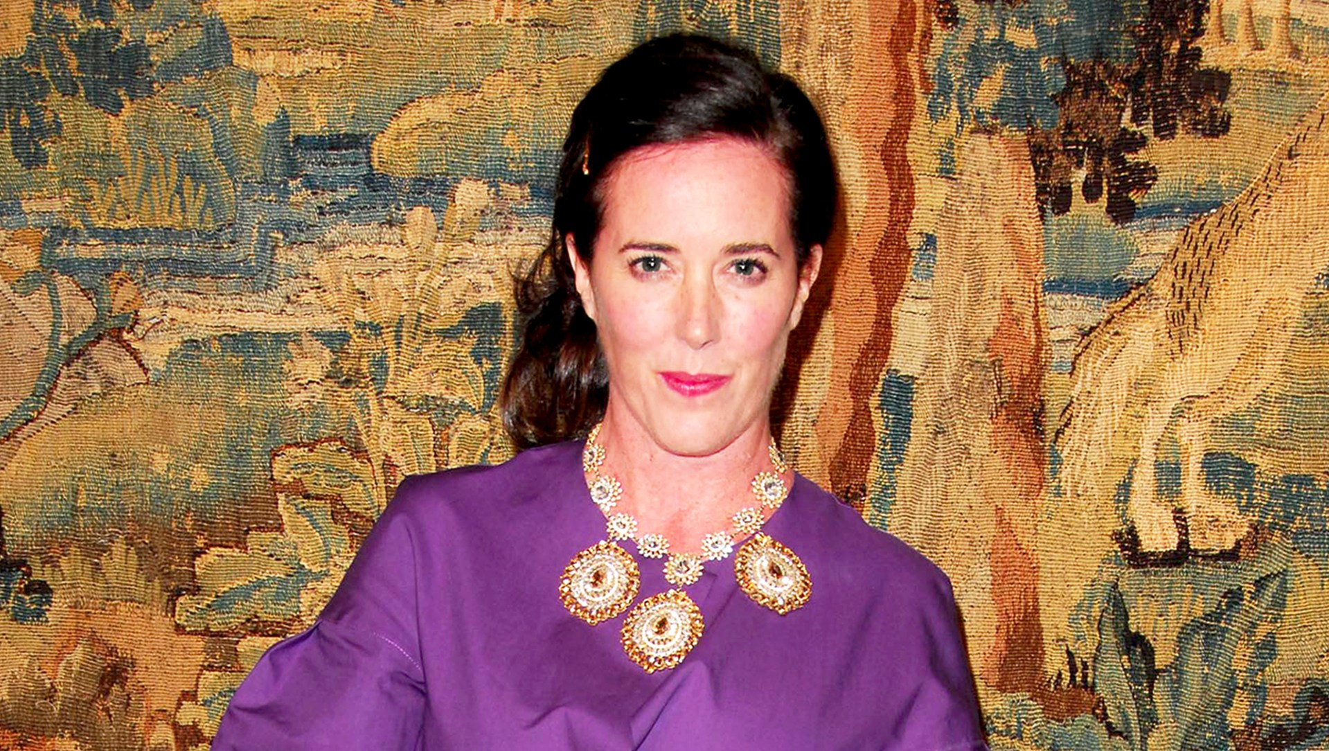 Kate Spade attends the 7th On Sale black-tie gala dinner held at 69th St Armory in New York City.