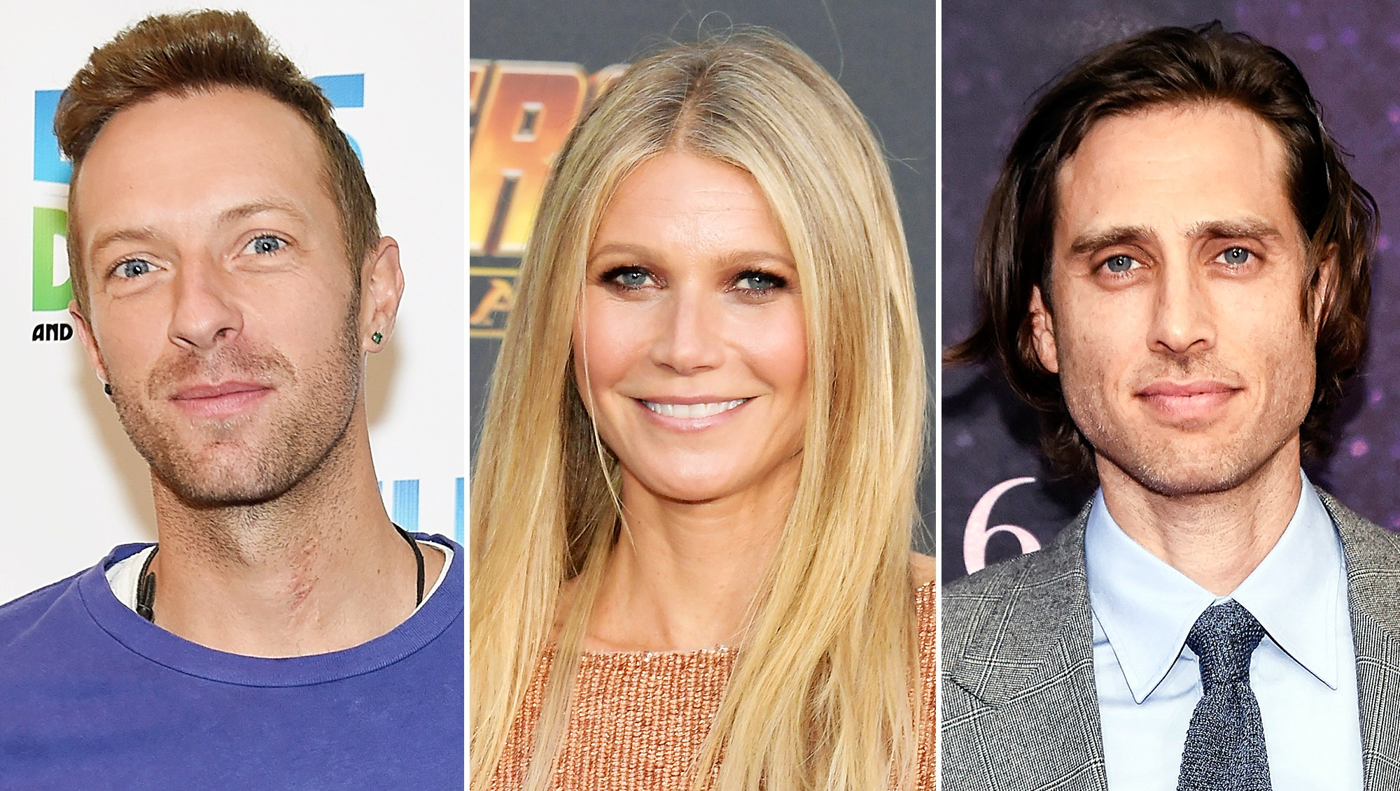 Chris Martin Gwyneth Paltrow Brad Falchuk Father's Day