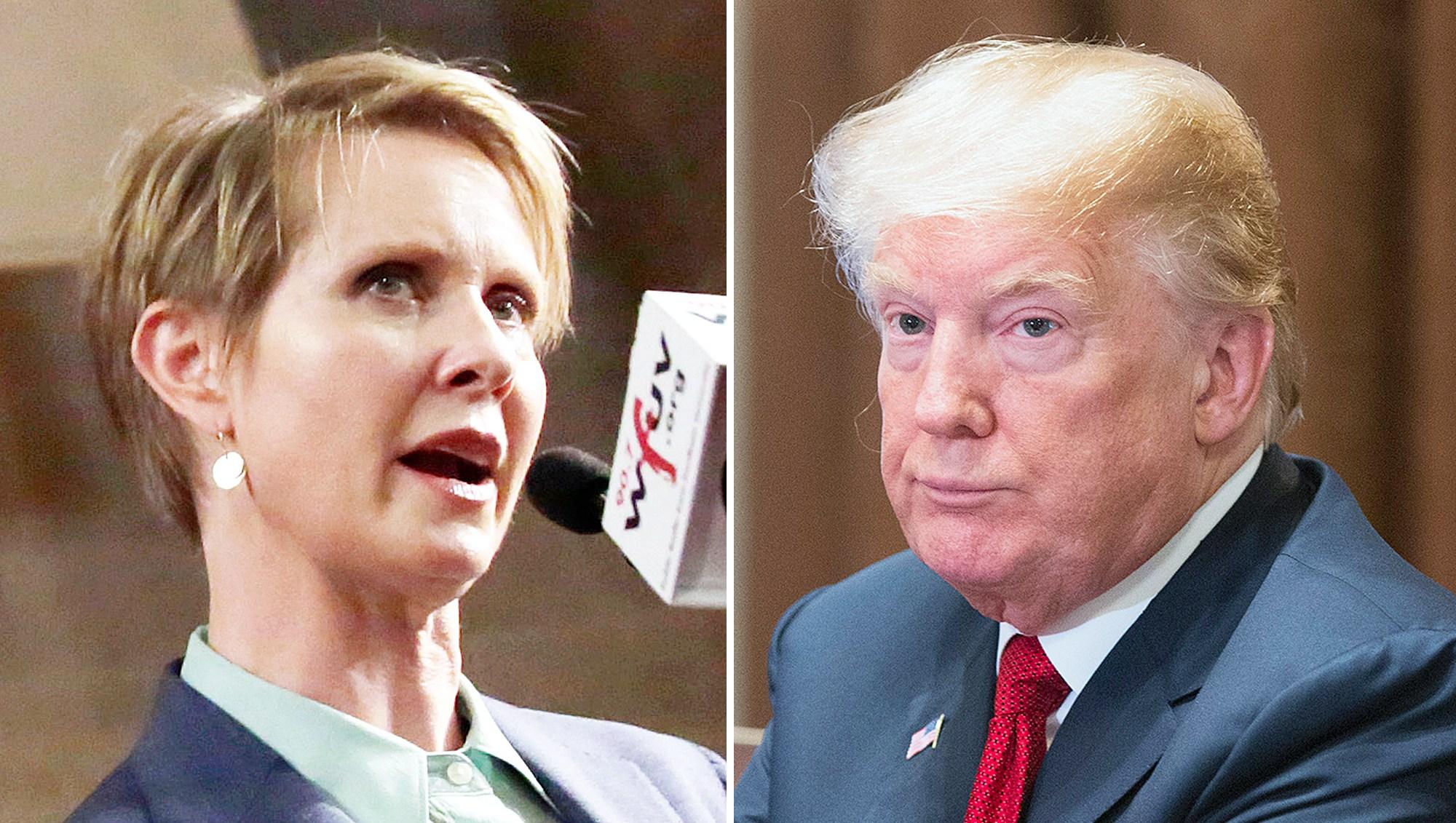 Cynthia Nixon Donald Trump Egomanic