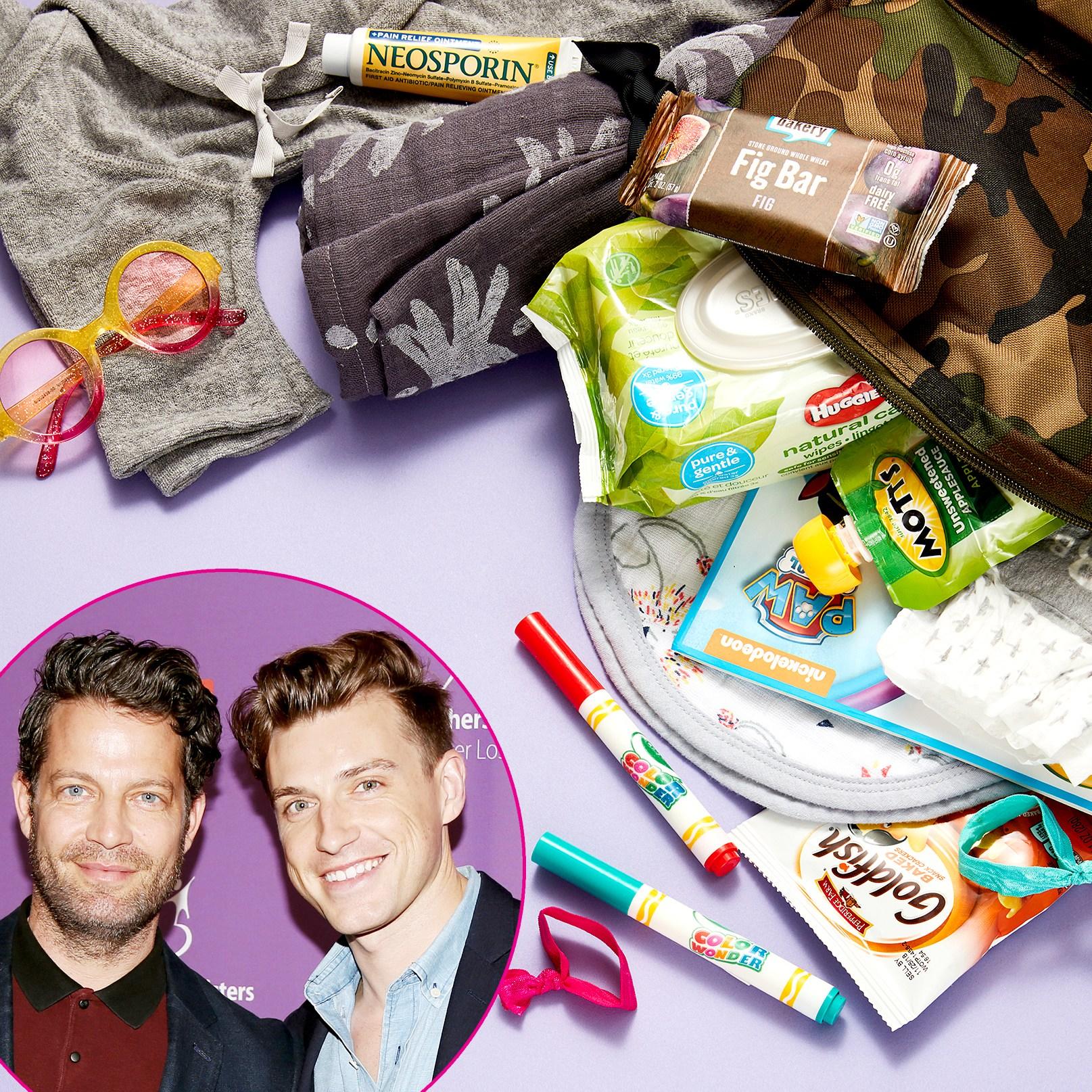 Nate Berkus and Jeremiah Brent's diaper bag