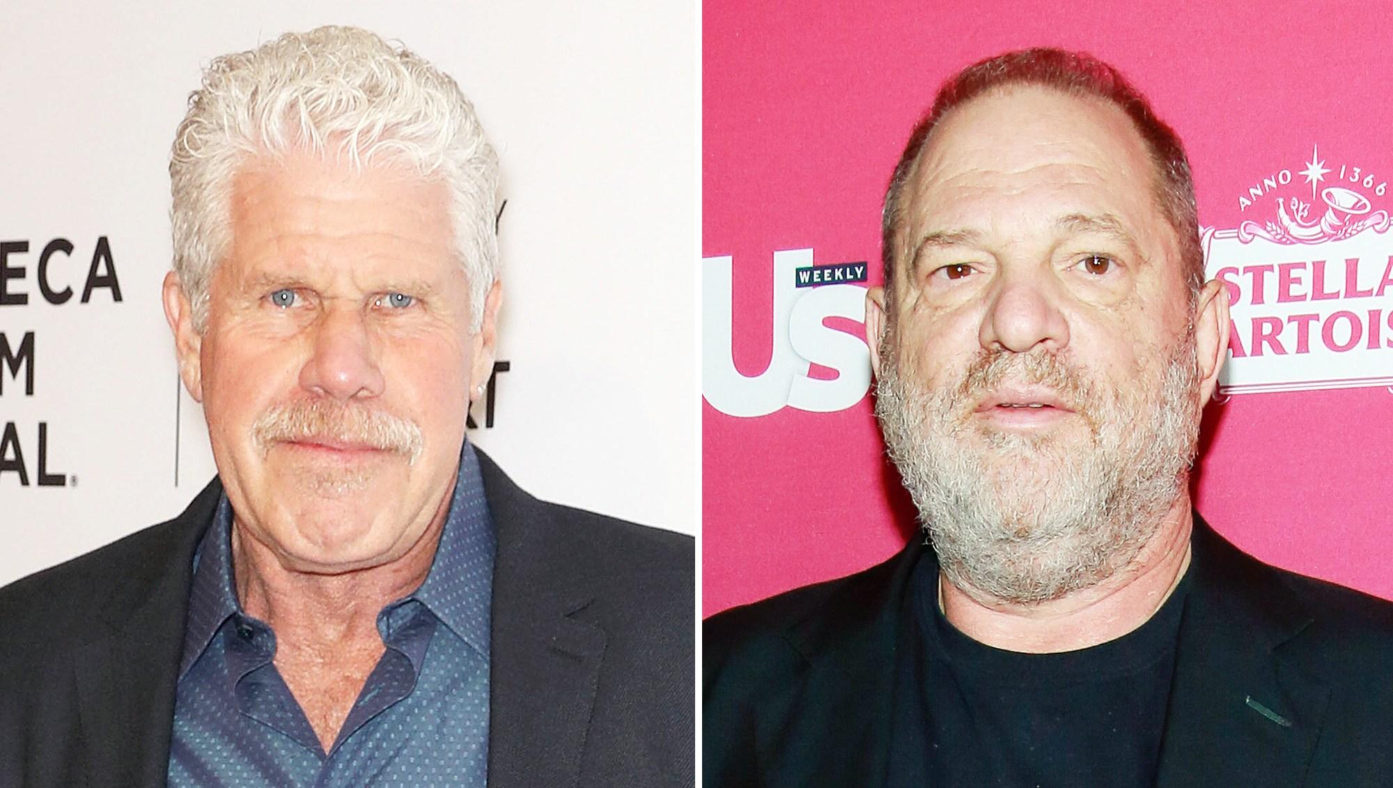 Ron Perlman Harvey Weinstein Shaking Hands Pee