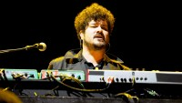 Richard Swift performs onstage during the 2012 Coachella Valley Music & Arts Festival at the Empire Polo Field in Indio, California.