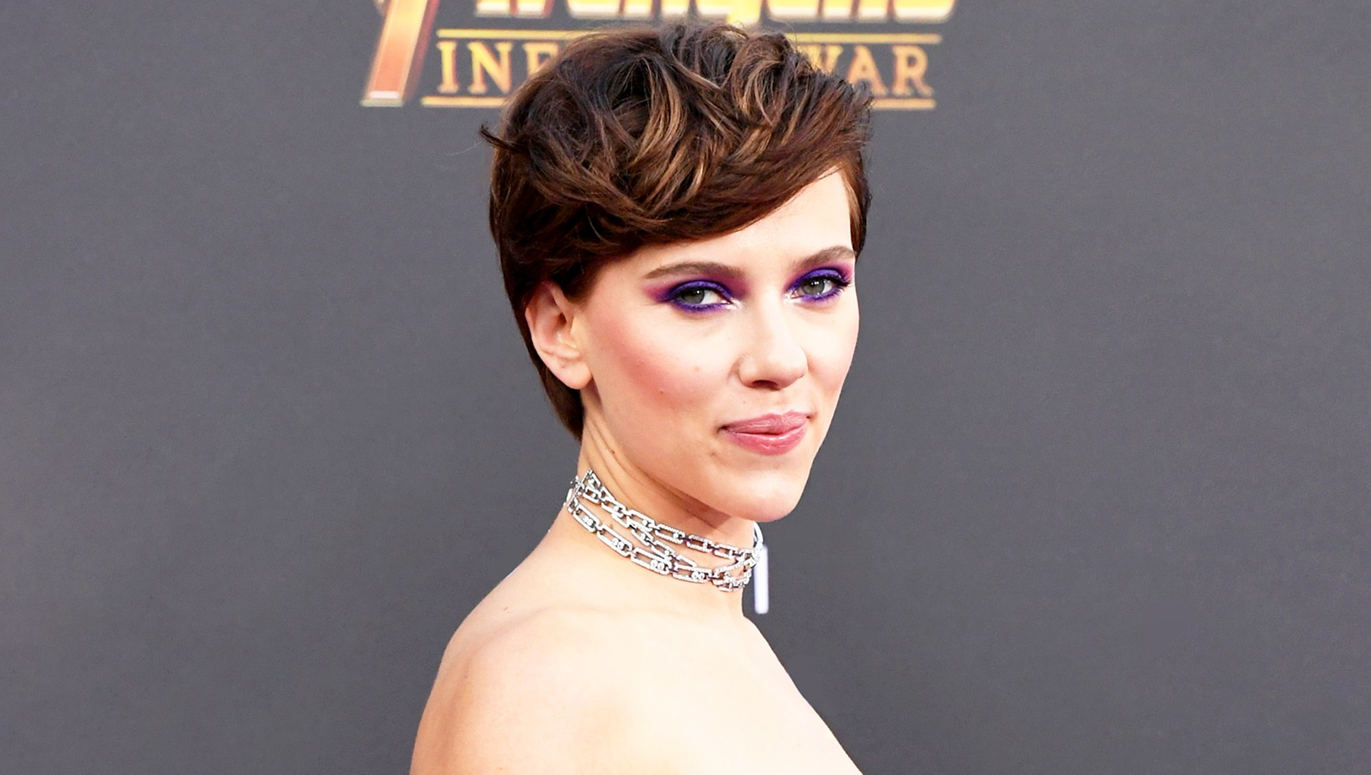 Scarlett Johansson attends the 2018 premiere of Disney and Marvel's 'Avengers: Infinity War' in Los Angeles, California.