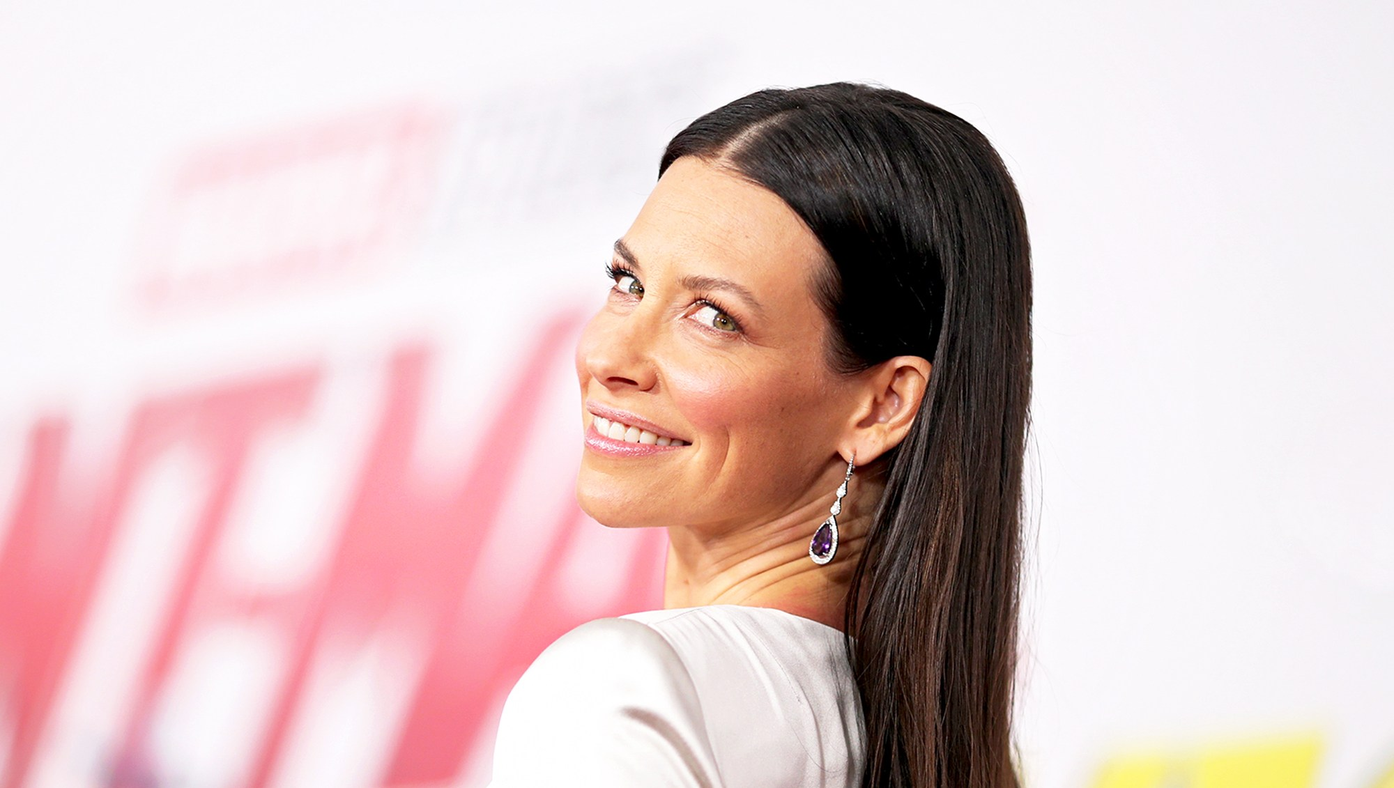 """Evangeline Lilly attends the 2018 premiere of Disney And Marvel's """"Ant-Man And The Wasp"""" in Los Angeles, California."""