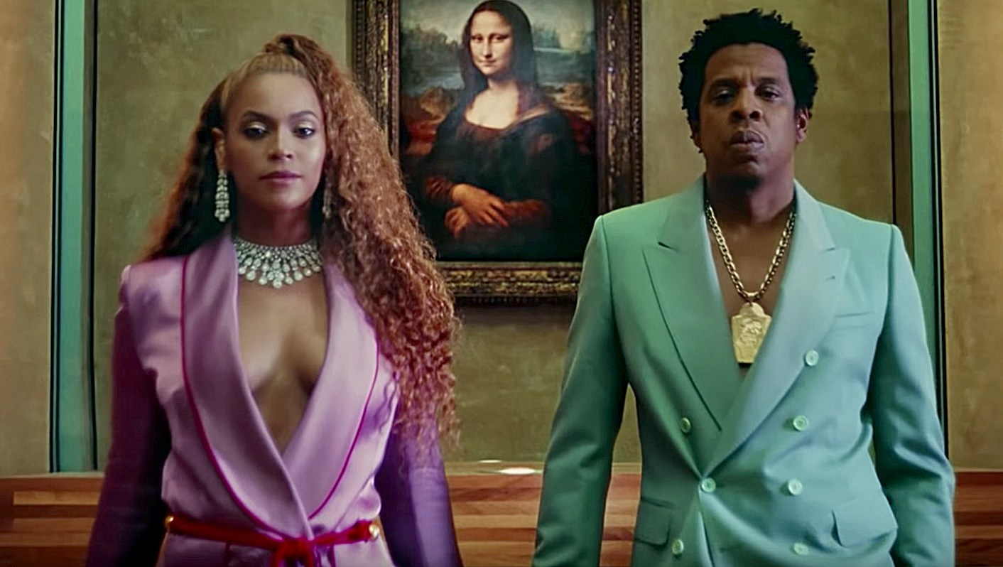 Beyonce and Jay-Z in Apeshit VMA