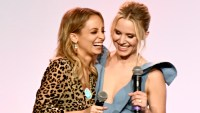 LOS ANGELES, CA - NOVEMBER 11: Nicole Richie (L) and Kristen Bell onstage at The 2017 Baby2Baby Gala presented by Paul Mitchell on November 11, 2017 in Los Angeles, California. (Photo by Emma McIntyre/Getty Images for Baby2Baby)