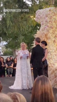 Kaley Cuoco and Karl Cooks Wedding Funny Vows Guests