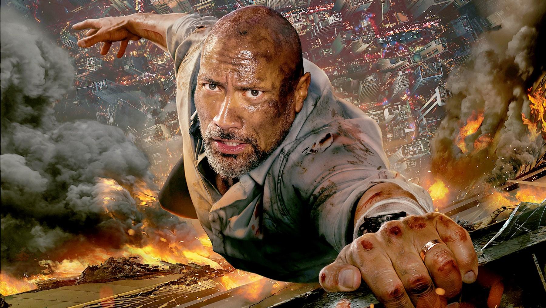 """Dwayne Johnson in """"Skyscraper"""""""