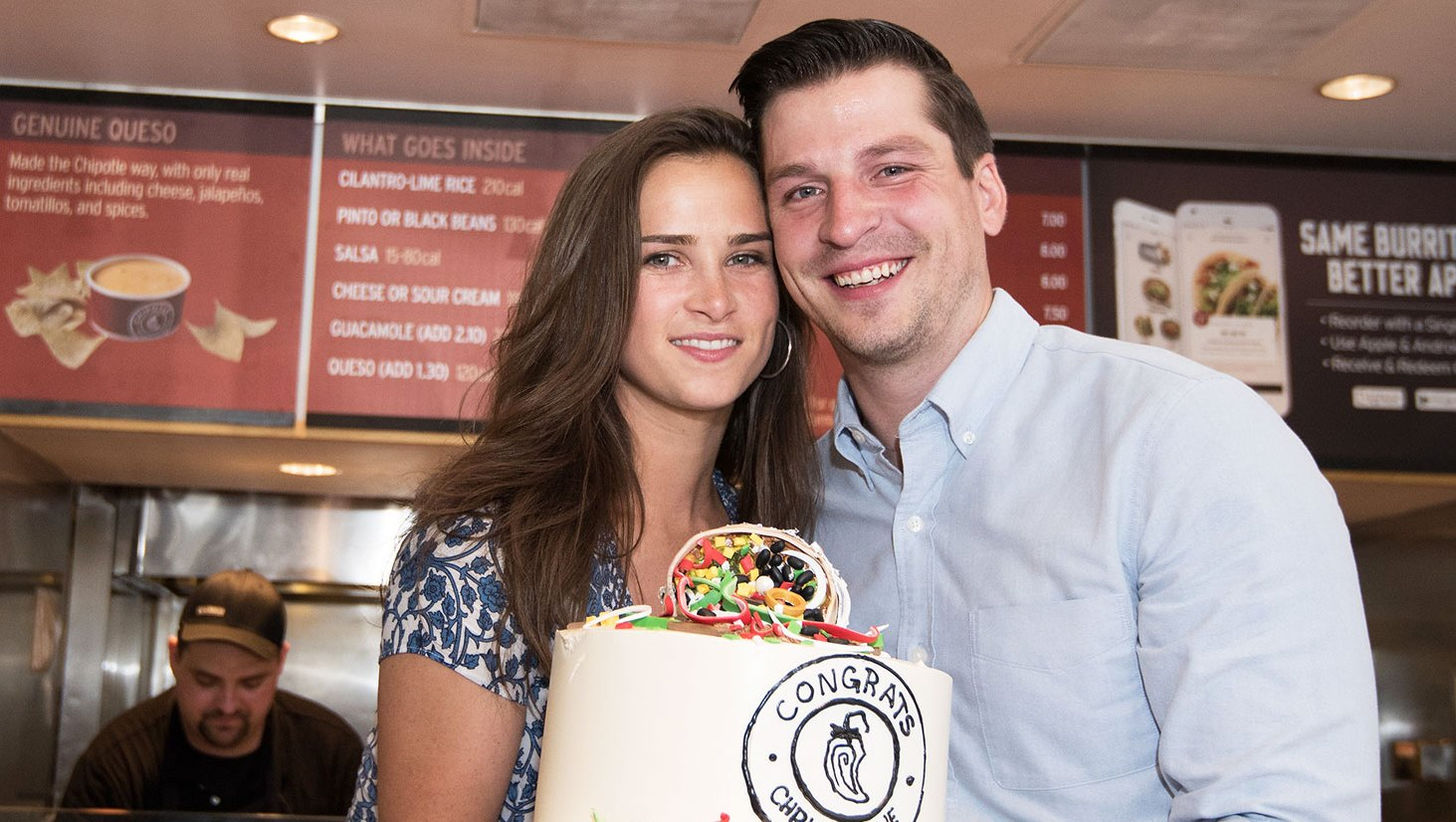 High School Sweethearts get engaged at Chipotle