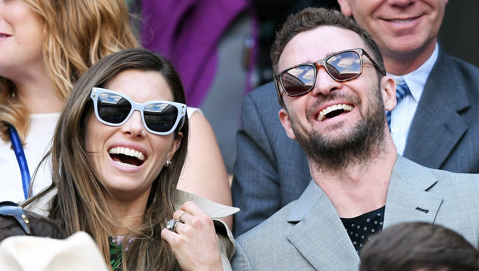 Jessica Biel Justin Timberlake Wimbledon